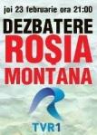Probleme argumente dezbatere televizata rosia montana tvr1 joi 23 feb 2012