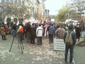 protest bucuresti 30 3 2012 universitate spune nu exploatarii gazelor de sist
