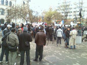 protest manifestatie proteste universitate piata universitatii bucuresti gaze de sist
