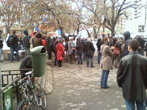 protest universitate 30 martie 2012 impotriva exploatarii gazelor de sist