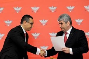 Victor Ponta USL a batut palma cu generalul izmenelor Oprea de la UNPR, mediafax-foto-razvan-chirita