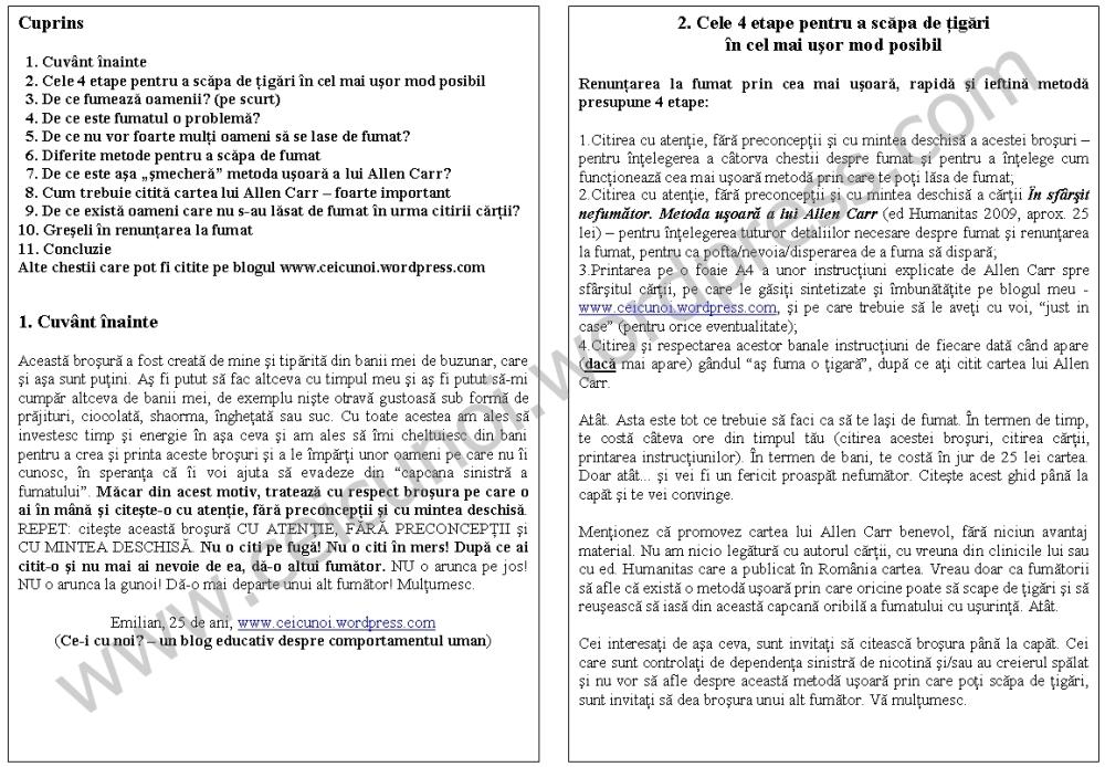 Cum sa te lasi de fumat in cel mai usor mod posibil. Ghid complet metoda Allen Carr(s12) (3/6)