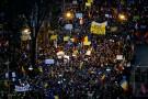 """Actiunea de protest a USL denumita """"Miting pentru libertate"""", in zona Arcului de Triumf din Bucuresti"""