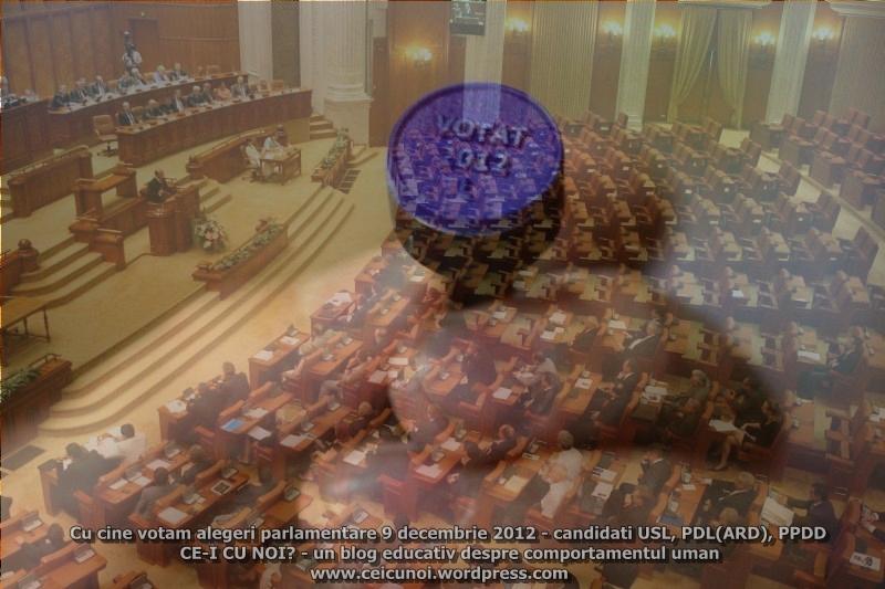 Cu cine votam GHID alegeri parlamentare 9 decembrie 2012. Candidati USL, PDL ARD, PPDD (pol86) (1/4)