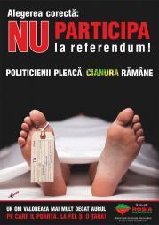 referendum local proiectul rmgc rosia montana nu participa la referendum campanie manipulare publicitate murdara furtul aurului romanesc