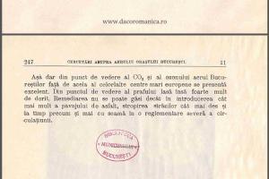 cercetari asupra aerului poluarea orasului bucuresti stefan minovici emil grozea laborator chimie analitica universitatea bucuresti 1914 co2 ozon praf, concluzii