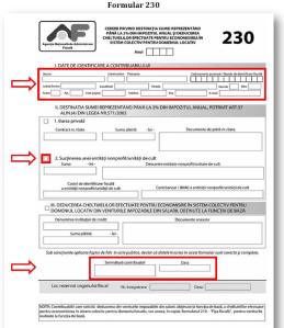 ghid completare formular declaratie 230 salarii directionare 2 % doi la suta din impozit pe venit catre o asociatie non profit un ong donatie declaratii formulare sistem 2 suta 2013, ceicunoi.wordpress