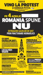 protest national manifestatie romani ies in strada toata tara pe 4 aprilie 2013 impotriva exploatarii gazelor de sist fracturare hidraulica fracking chevron poluare apa mediu cutremure