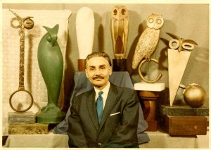 sculptor Constantin Antonovici ucenic brancusi si bufnitele sale Foto via Doina Bucatariu, simboluri masonice bufnita franc masonerie