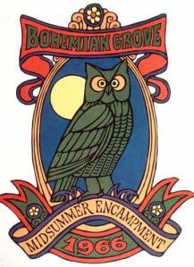 simboluri masonice cine conduce lumea  francmasonerie, masoni, Bohemian Groove club masonic simbol bufnita 2