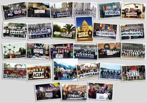 colaj 25 poze imagini foto proteste solidaritate rosia montana tradare viitor implicati va acum schimbare oameni romani uniti salvam rosia montana 10 noiembrie 2013 Romania Europa