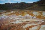 Galerie foto poze poluare dezastru ecologic iaz decantare Valea Sesii Sesei exploatare miniera cianuri substante toxice chimice sat distrus de proiectul minier rmgc compania Rosia Montana ecologie 4