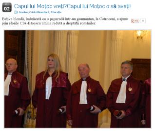 iulia motoc ccr judecator cedo curtea constitutionala influenta politica justitia din romania basescu controleaza procurori judecatori ajutor SUA CIA sfori in spatele politicienilor cine conduce romania colonie
