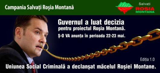 proiect rosia montana aviz mediu dan sova rmgc gold corporation gabriel resources ministrul proiectelor mari infrastructura demararea proiectului criminal muntii apuseni aur argint locuri munca