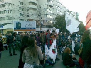 1 protest miting manifestatie eveniment rosia montana 22 septembrie 09 2013 in iasi importriva anti proiectul minier cu cianuri protestatar
