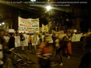 8 galerie poze imagini foto mars protest manifestatie miting anti impotriva proiect minier cianuri lege pentru Rosia Montana 22 septembrie 09 2013 bucuresti universitate