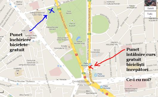 harta curs gratuit cum inveti sa mergi pe bicicleta sambata 7 septembrie 2013 parcul kiseleff bucurecesti mersul pe doua roti sfaturi biciclisti incepatori lectii bicicleta gratuite aer liber 1