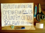 pancarta ceicunoi ce-i cu noi mars protest miting manifestatie 15 septembrie 09 2013 rosia montana gaze sist revolutia va veni cand omenirea va realiza ca suntem cu totii sclavi