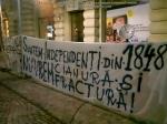 poze imagini foto protest rosia montana 10 noiembrie 11 2013 bucuresti piata universitatii universitate statui ateliere creatie mesaje impotriva contra gazelor de sist 2
