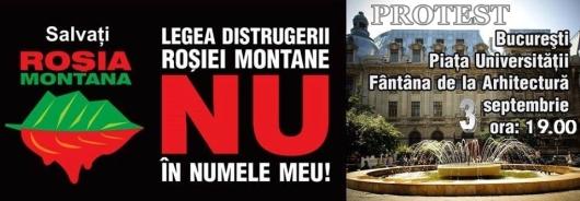 protest de strada 3 septembrie 2013 romanii pentru impotriva proiectului minier cianuri rosia montana exploatarea gazelor de sist fracturare hidraulica universitate piata universitatii