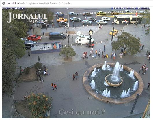 protest fantana universitate webcam live manifestatie miting rosia montana gaze sist 5 septembrie 2013 arhitectura Bucuresti protestatarii incep sa iasa in strada pentru salvarea rosiei