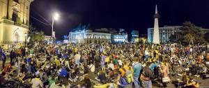 protest manifestatie miting mars bucuresti 3 septembrie 2013 protestatarii au ocupat calea victoriei si au scandat pentru rosia montana si impotriva gazelor de sist universitate romania