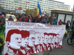 16 galerie poze imagini foto mars protest miting rosia montana bucuresti 13 octombrie 10 2013 manifestatie anti contra impotriva proiectului minier cu cianuri RMGC pancarte