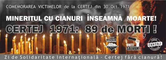 Comemorare victime tragedia Certej 1971 mars de protest rosia montana 27 30 octombrie 10 2013 bucuresti gaze sist fracturare hidraulica coruptia politicienilor pungesti campeni