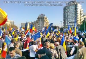 poze imagini foto video marsul unirii 20 octombrie 10 2013 bucuresti parlament basarabia e unirea romania republica moldova protest exploatare proiect rosia montana gaze de sist 17