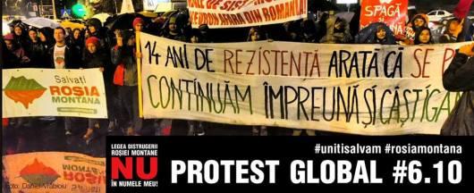 Protest Rosia Montana Bucuresti traseu cartier Militari Universitate, 6 octombrie 10 2013. Mars miting manifestatie impotriva anti contra proiectul minier cu cianuri RMGC 2