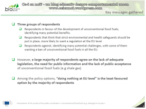 Rezultate consultare publica CE privind exploatarea gazelor de sist in Europa raport UE 75% dintre respondentii romani sunt ferm impotriva anti contra fracturarii hidraulice 2