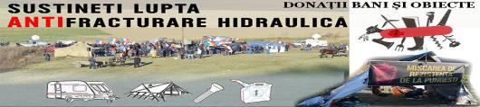 Sustineti Lupta Anti Fracturare hidraulica si gaze sist donatii bani fonduri si obiecte pentru protestatarii din vaslui contra compania Chevron Asociatia RFE G Epurescu Bucuresti