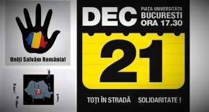 toti romanii in strada solidaritate protest de amploare Bucuresti 21 12 decembrie 2013 universitate dreptate normalitate in Romania impotriva coruptie sclavie anti mafie politicieni