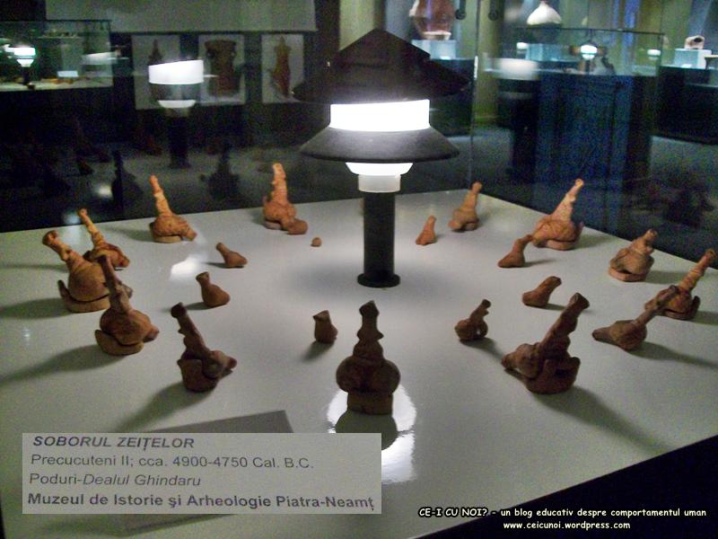 53 poze imagini foto muzeul istorie arheologie arta cultura civilizatia pre cucuteni piatra neamt soborul zeitelor colectie figurine artefacte vechi vase ceramice obiecte antice moldova Romania