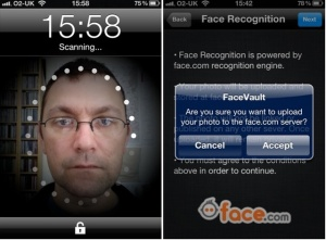 Aplicatie facevault telefon mobil IPhone care fura date biometrice. Cum isi ofera oamenii prin smartphone date personale - sanatate, pozitie geografica, recunoasterea faciala, iris, amprente