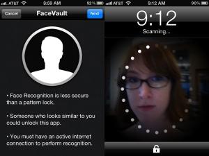 Aplicatii telefon facevault mobil IPhone care fura date biometrice. Cum isi ofera oamenii prin smartphone date personale - sanatate, pozitie geografica, recunoasterea faciala, iris, amprente