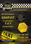Transport taxi gratis gratuit in Bucuresti pentru persoane cu probleme financiare fara bani medicale locomotorii amarate nevoiasi saraci handicap fizic probleme deplasare urgente nevazatori afis distribuie