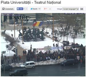 poze imagini foto stegarul dac cezar avramuta protest 8 februarie 2014 bucuresti universitate TNB piata universitatii anti exploatare gaze sist fracturare hidraulica toxica impotriva coruptiei politicienilor