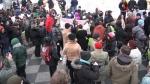poze imagini galerie foto stegarul dac cezar avramuta protest universitate 8 februarie 2014 impotriva anti gaze de sist coruptie politicieni chevron rosia montana nedreptate sclavie moderna 17