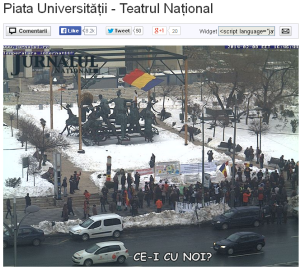poze imagini galerie foto stegarul dac cezar avramuta protest universitate 8 februarie 2014 impotriva anti gaze de sist coruptie politicieni chevron rosia montana nedreptate sclavie moderna 4