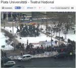 poze imagini galerie foto stegarul dac cezar avramuta protest universitate 8 februarie 2014 impotriva anti gaze de sist coruptie politicieni chevron rosia montana nedreptate sclavie moderna 5