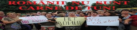 romanii nu sunt carne de tun protest anti razboi incorporare tineri romani cernauti romania