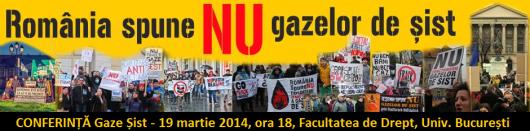 Conferinta dezbatere explorare exploatare gaze sist fracking fracturare hidraulica 19 martie 2014 facultatea Drept Universitatea Bucuresti aula magna pericole riscuri gaze sist cutremure 2