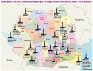 harta resurse hidrocarburi romania gaze naturale sist petrol Protest national 6 aprilie 2014 impotriva gazelor de sist, miting anti fracking, contra exploatare prin fracturare hidraulica