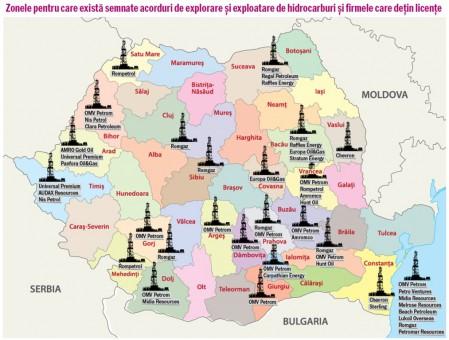 Harta Resurse Hidrocarburi Romania Gaze Naturale Sist Petrol