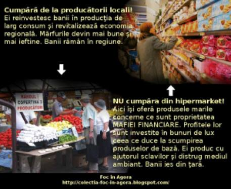 piata vs impotriva anti contra supermarket cumpara fructe si legume de la piata agroalimentara nu din hypermarket magazin banii ies din tara producatorii locali sufera