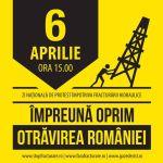 Protest national 6 aprilie 2014 impotriva gazelor de sist, miting anti fracking, contra exploatare prin fracturare hidraulica toxica poluare sol apa cutremure dependenta corporatii 2