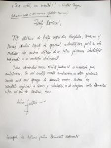 Scrisoare chemare preot parintele iustin parvu Sfintilor Romani pentru romanii din Harghita Covasna Mures cine uita nu merita alaturi de transilvania solidaritate romaneasca sursa roncea.ro