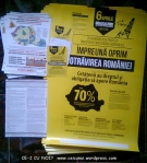 afise lipite protest manifestatie manifestare miting anti contra gaze sist exploatare hidraulica fracking 6 aprilie 2014 bucuresti romania strainatate zi nationala impotriva exploatarii 1