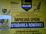 afise lipite protest manifestatie manifestare miting anti contra gaze sist exploatare hidraulica fracking 6 aprilie 2014 bucuresti romania strainatate zi nationala impotriva exploatarii 3
